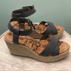 Sam Edelman Destin Espadrille Gray/Blue Wedge